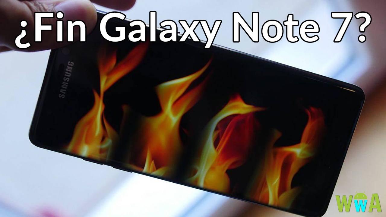 Samsung galaxy Note 7 dejan de producirse