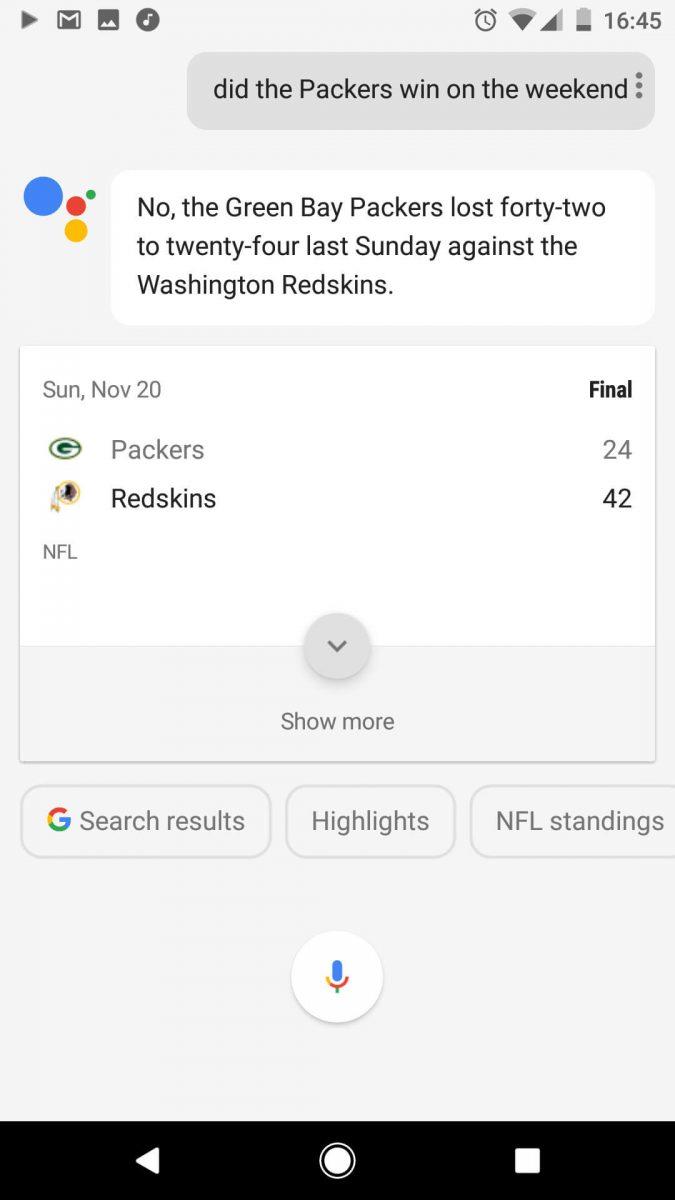 Google Assistant Sport