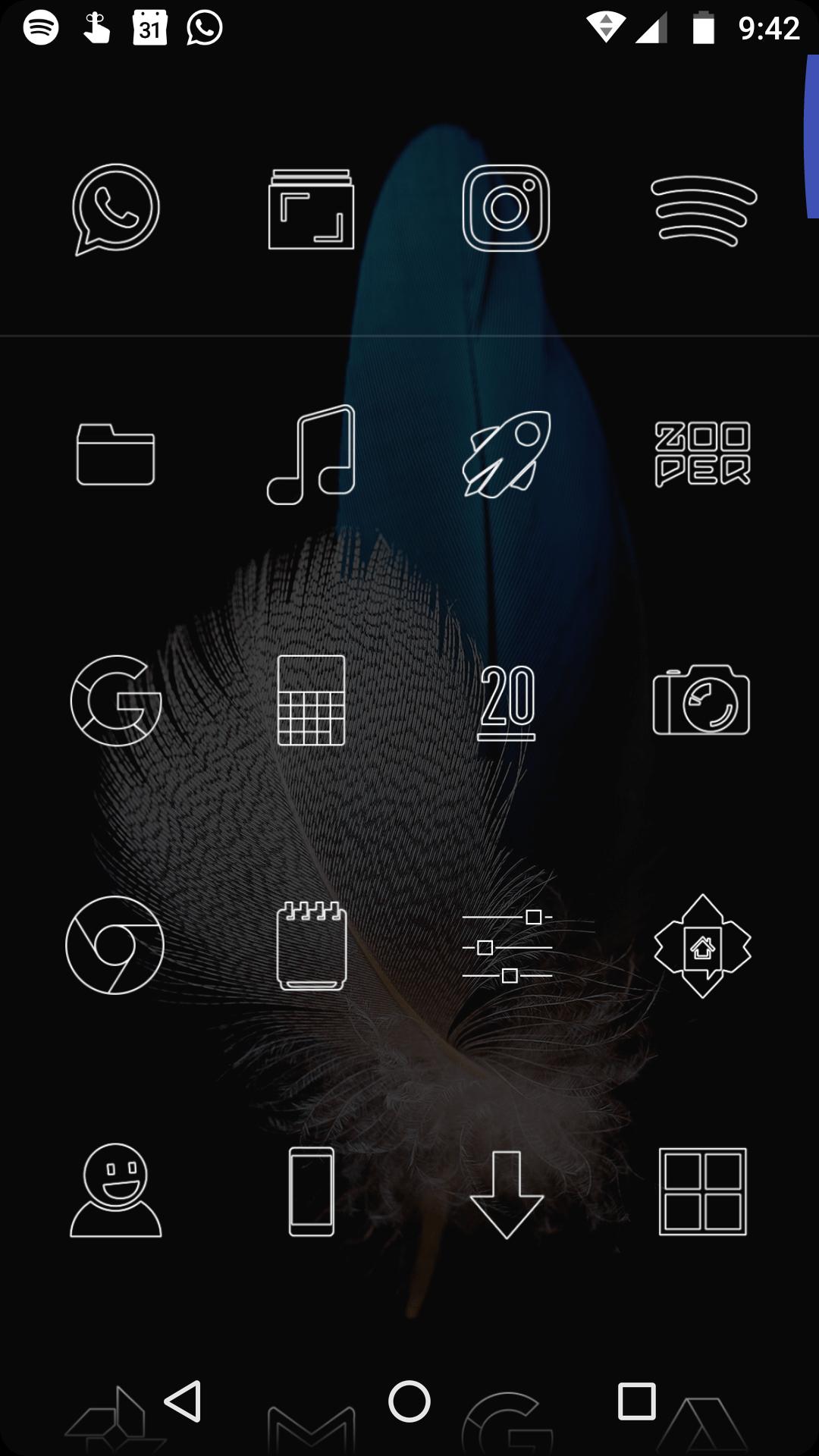 Cajón de aplicaciones