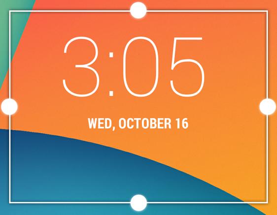 Widget de reloj