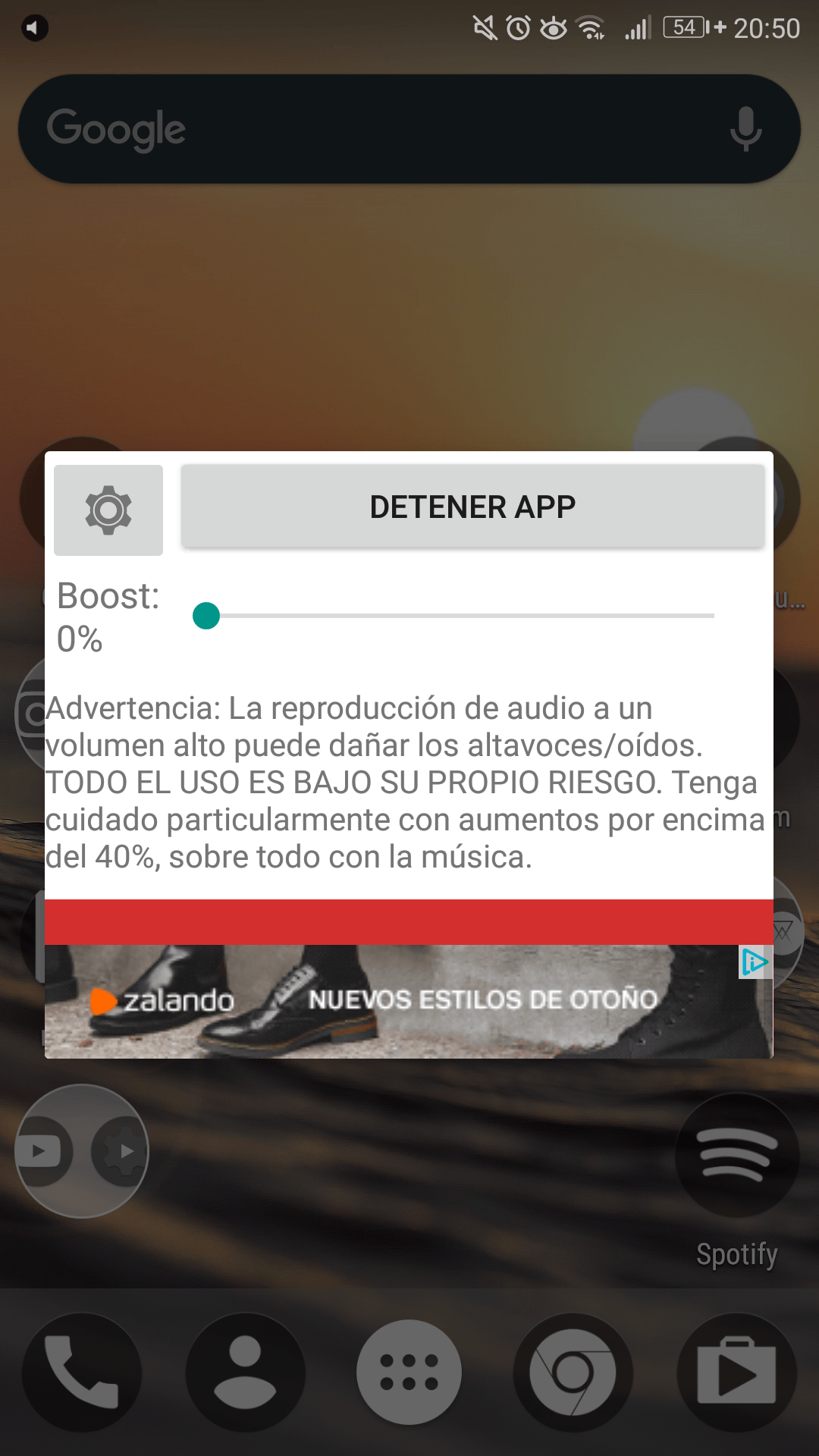 aumentar volumen movil android
